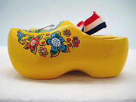 Wooden Shoes Magnetic Yellow - 1.5 inches, 2.5 inches, Collectibles, CT-600, Decorations, Dutch, Home & Garden, Kitchen Magnets, Magnets-Refrigerator, Netherlands, PS-Party Favors, PS-Party Favors Dutch, Size, Top-DTCH-B, Tulips, wood, Wooden Shoes, Yellow - 2