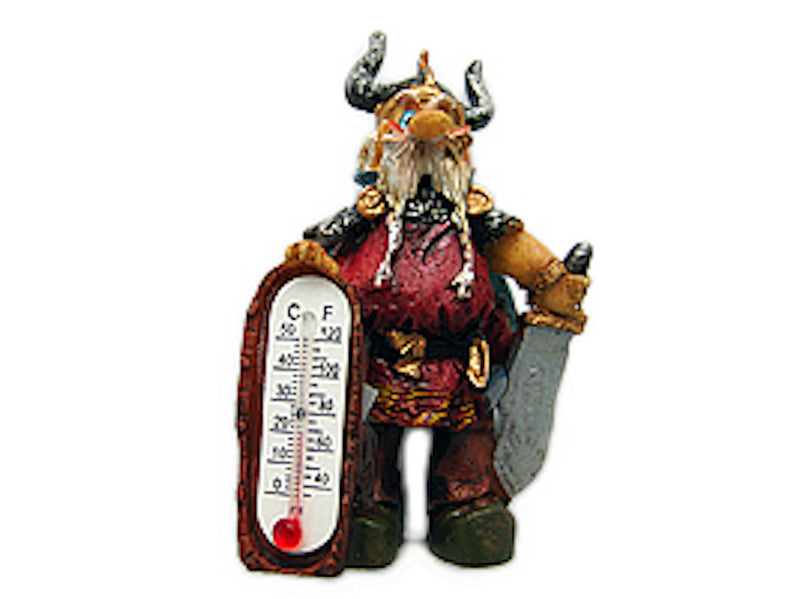 Viking Miniature Thermometer Gift Magnet - Below $10, Collectibles, Home & Garden, Kitchen Magnets, Magnets-Refrigerator, Miniatures, Norwegian, PS-Party Favors, Scandinavian, Thermometer, Viking
