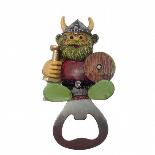 Norwegian Viking Refrigerator Magnet Bottle Opener