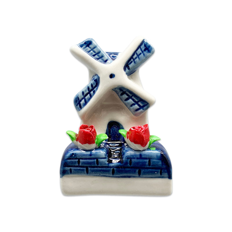 Novelty Windmill With Tulips Magnets