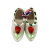 Embossed Red Tulip Dutch Shoes Gift Magnet