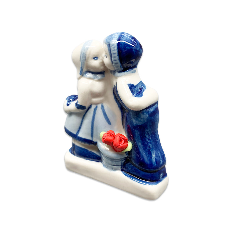 Delft Kiss with Tulips Kitchen Magnet