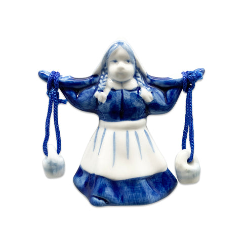 Ceramic Milkmaid Dutch Delft Blue Fridge Magnet