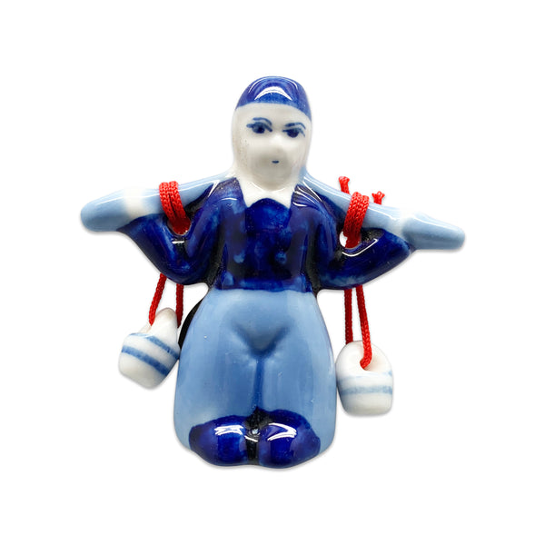 Dutch Magnetic Delft Boy with Buckets