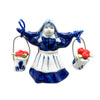 Dutch Magnetic Delft Girl with Tulips