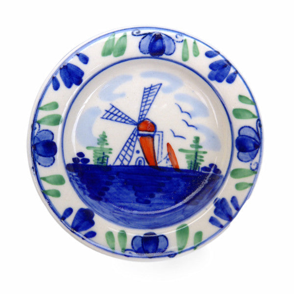 Plate Magnet With Windmill - Collectibles, Color, Decorations, Delft Blue, Dutch, Home & Garden, Kitchen Magnets, L, Magnets-Delft, Magnets-Dutch, Magnets-Refrigerator, PS-Party Favors, PS-Party Favors Dutch, Top-DTCH-B - 2