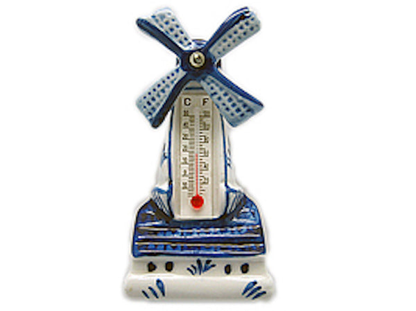 Ceramic Windmill Thermometer Magnet