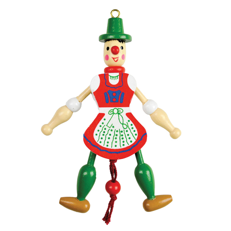 German Gift Jumping Jack Toy Refrigerator Magnet Girl - Collectibles, CT-520, German, Germany, Home & Garden, Jumping Jacks, Kitchen Magnets, Magnets-German, Magnets-Refrigerator, PS- Oktoberfest Party Favors, PS-Party Favors, PS-Party Favors German, Top-GRMN-B