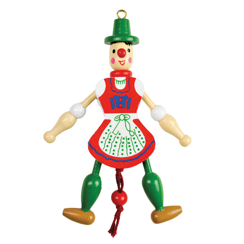 German Gift Jumping Jack Toy Refrigerator Magnet Girl