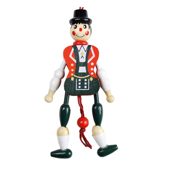 Bavarian Boy Jumping Jack Magnet Toy