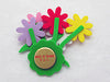 German Gift Refridgerator Magnet Daisy Flower Bouquet