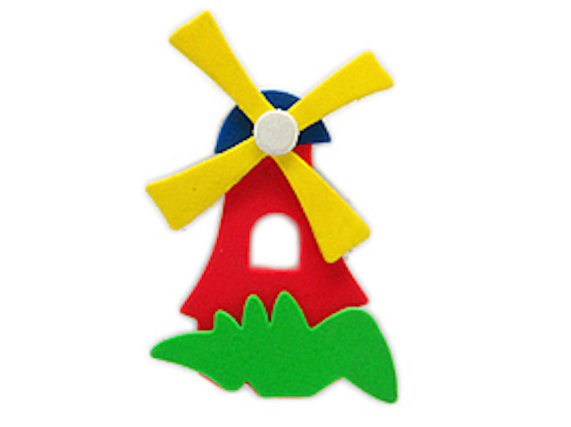 Decorative Dutch Red Poly Windmill Magnet - Below $10, Blue, Collectibles, Decorations, Dutch, Home & Garden, Kitchen Magnets, Magnets-Dutch, Magnets-Refrigerator, PS-Party Favors, PS-Party Favors Dutch, Red, White, Windmills, Yellow