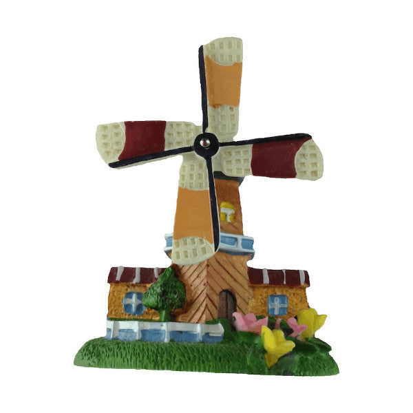 Souvenir Kitchen Magnet Tulips Windmill