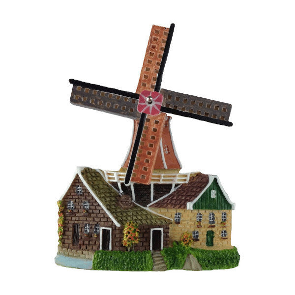 Holland Windmill Souvenir Kitchen Magnet - Collectibles, Dutch, Home & Garden, Kitchen Magnets, Magnets-Dutch, Magnets-Refrigerator, Poly Resin, PS-Party Favors, PS-Party Favors Dutch, Windmills