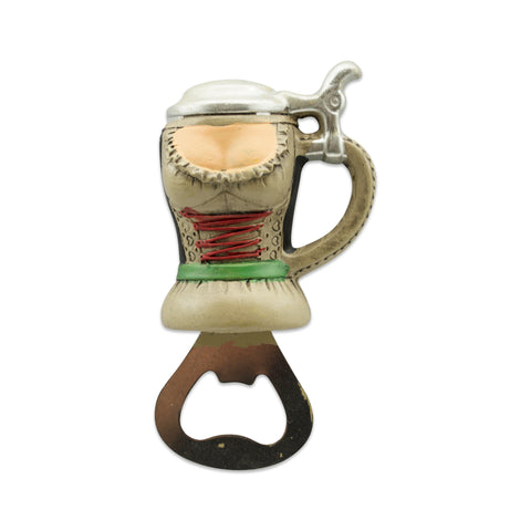 Magnetic Oktoberfest Bottle Opener Waitress Stein