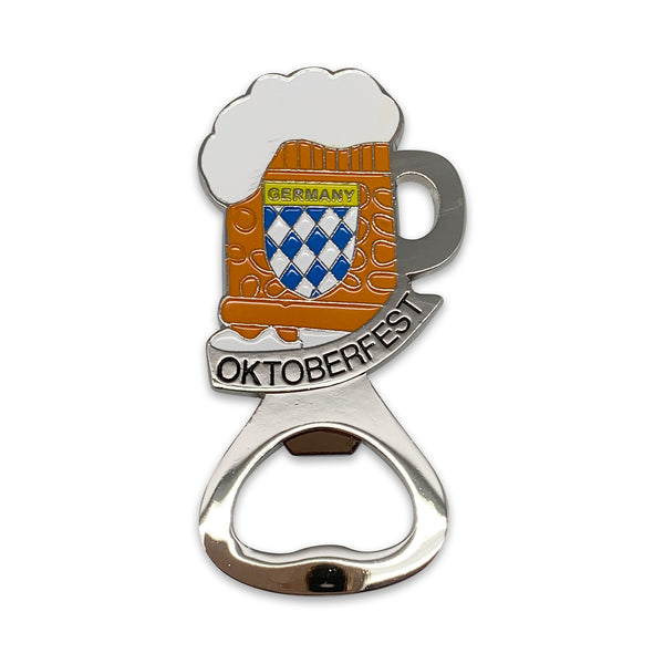 Oktoberfest Beer Stein Metal Bottle Opener Fridge Magnet