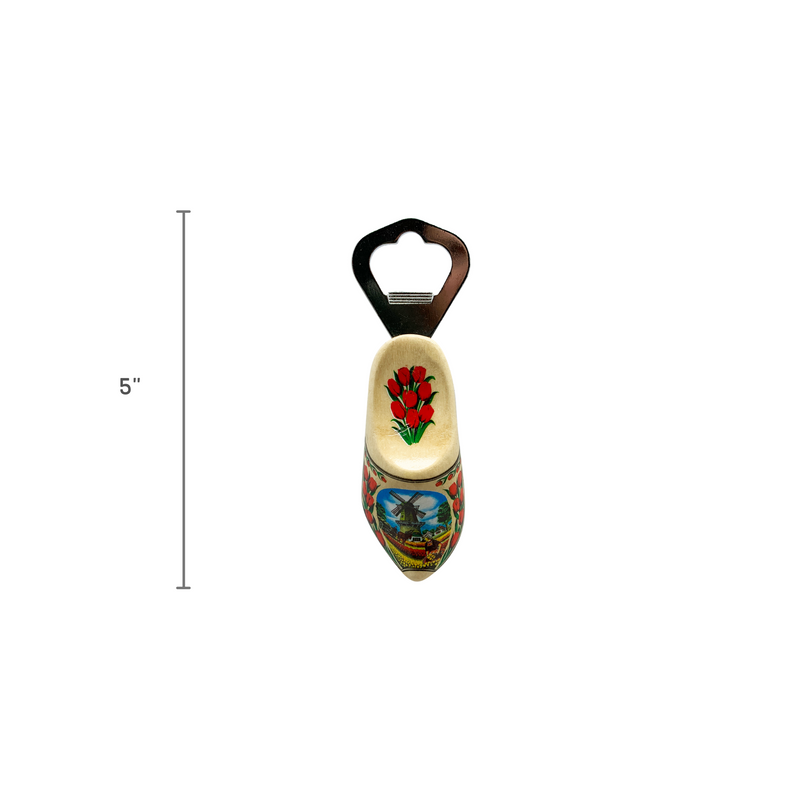 Unique Bottle Opener Fridge Magnet Natural Wooden Shoe