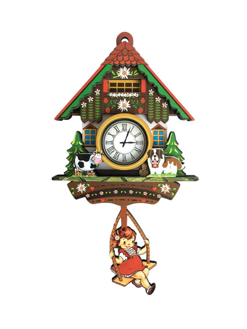 German Girl & Dog Cuckoo Clock Decorative Kitchen Magnet - Collectibles, CT-520, CT-525, German, Germany, Home & Garden, Kitchen Magnets, Magnet Swing, Magnets-German, Magnets-Refrigerator, New Products, NP Upload, PS-Party Favors, Yr-2017