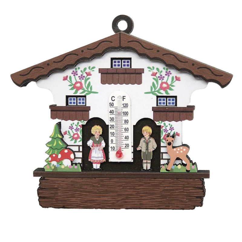 German Cuckoo Clock Magnet Haus with Thermometer -1