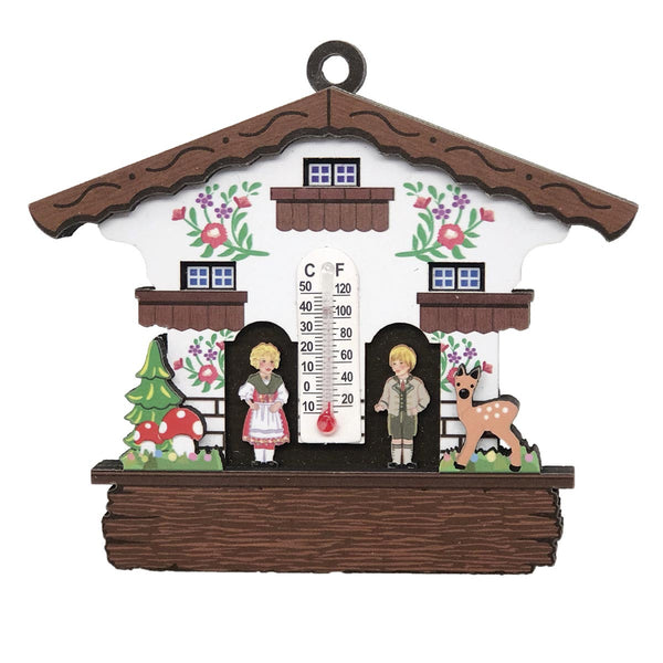German Cuckoo Clock Magnet Haus with Thermometer
