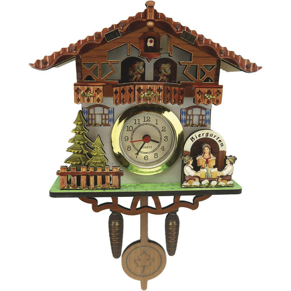 German Bier Garten Functioning Clock Fridge Magnet