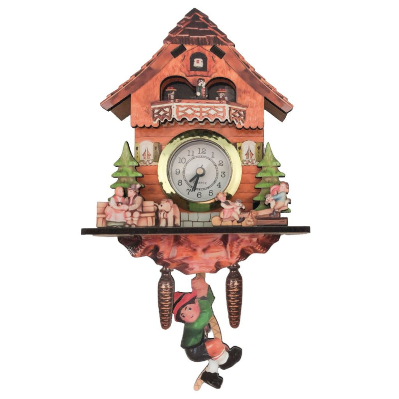 German Boy, Cow & Dog Functioning Clock Fridge Magnet -1