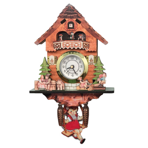 German Girl, Man & Dog Functioning Clock Fridge Magnet