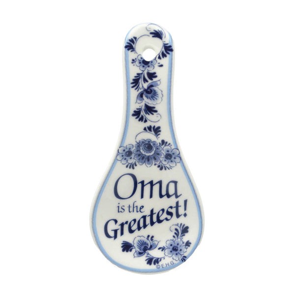 Ceramic Spoon Rest Magnet Oma..Greatest