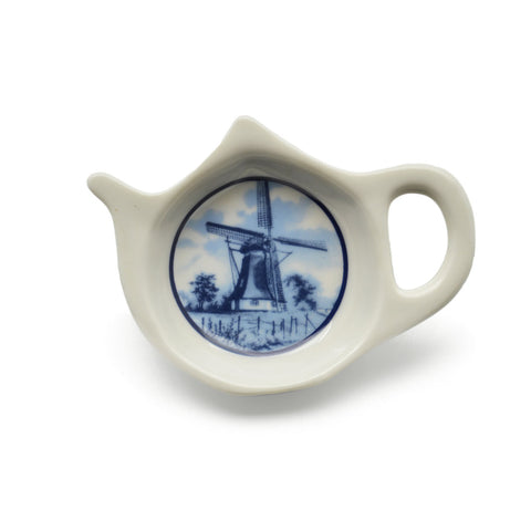 Dutch Windmill Scene Teapot Magnet