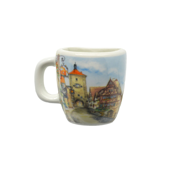 European Village Scene Magnetic Cup