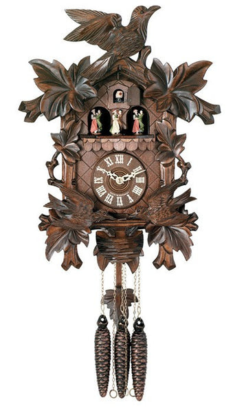 River City Clocks Eight Day Musical Cuckoo Clock with Moving Birds and Nest