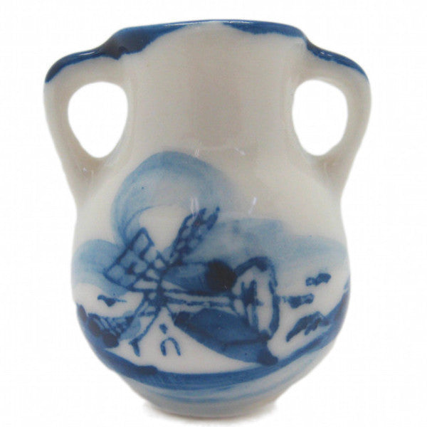 Ceramic Miniature Delft Blue Vase