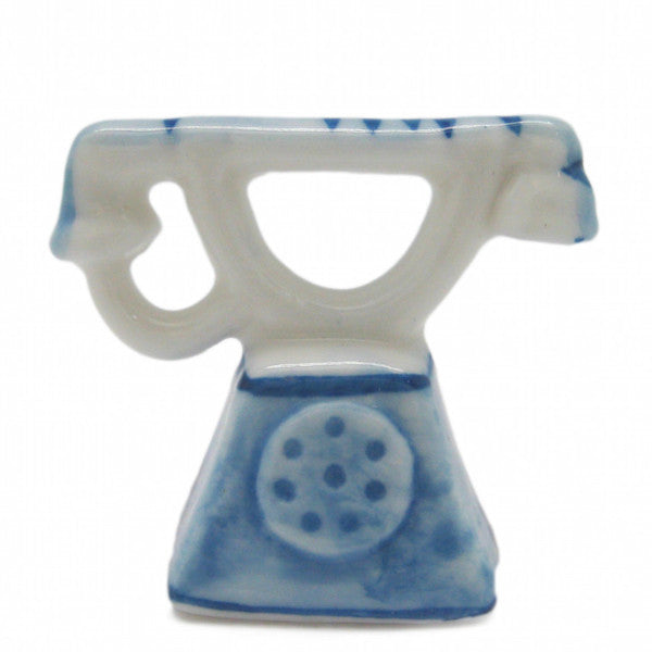Ceramic Miniature Delft Blue Telephone