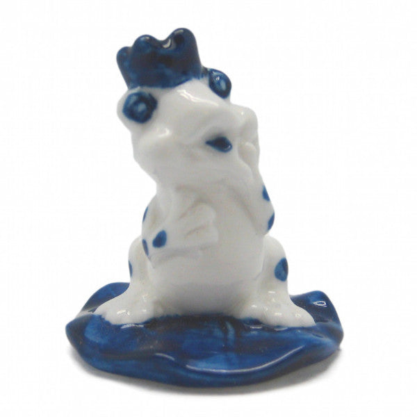 Porcelain Porcelain Delft Frog Prince - Animal, Collectibles, Delft Blue, Dutch, Figurines, General Gift, Home & Garden, Miniatures, Miniatures-Dutch, PS-Party Favors