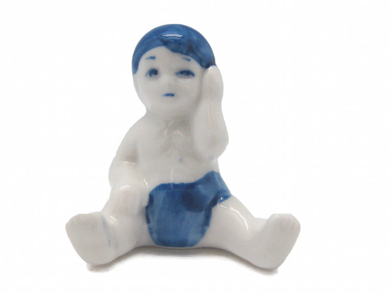 Color Porcelain Miniature Baby - Animal, Below $10, Blue, Collectibles, Color, Decorations, Delft Blue, Dutch, Figurines, General Gift, Home & Garden, Miniatures, PS-Party Favors