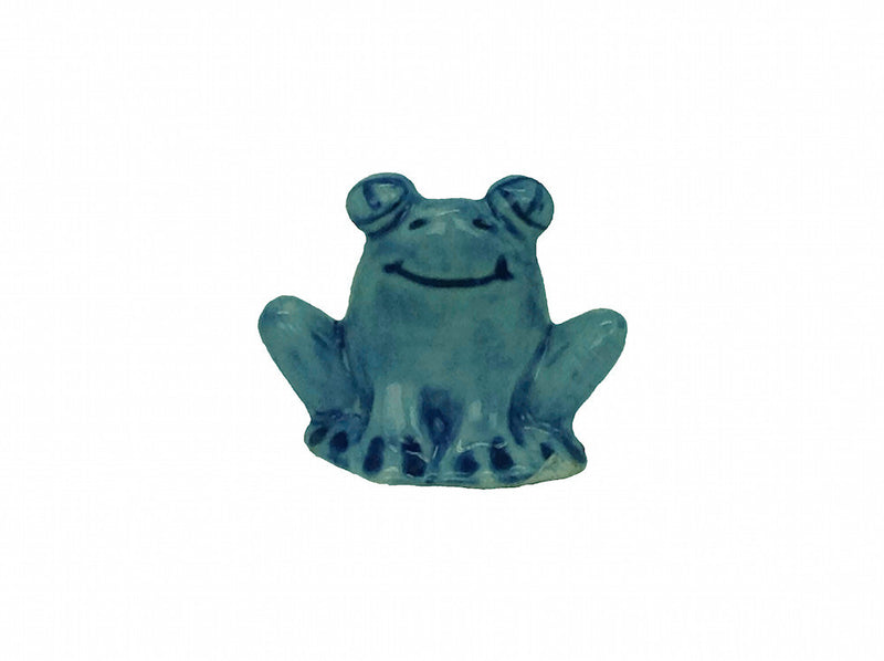 Miniature Ceramic Frog Blue - Animal, Blue, Collectibles, Color, Decorations, Delft Blue, Dutch, Figurines, General Gift, Home & Garden, Miniatures, PS-Party Favors, Top-GNRL-B