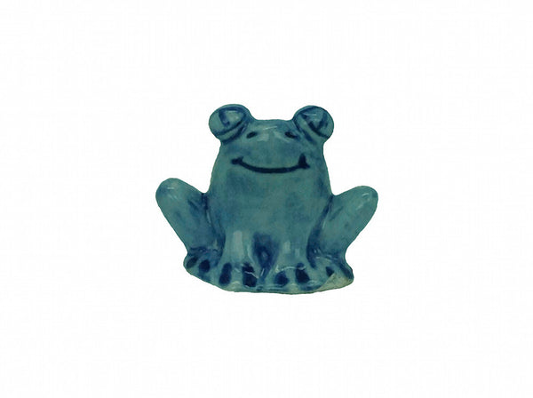 Miniature Ceramic Frog Blue