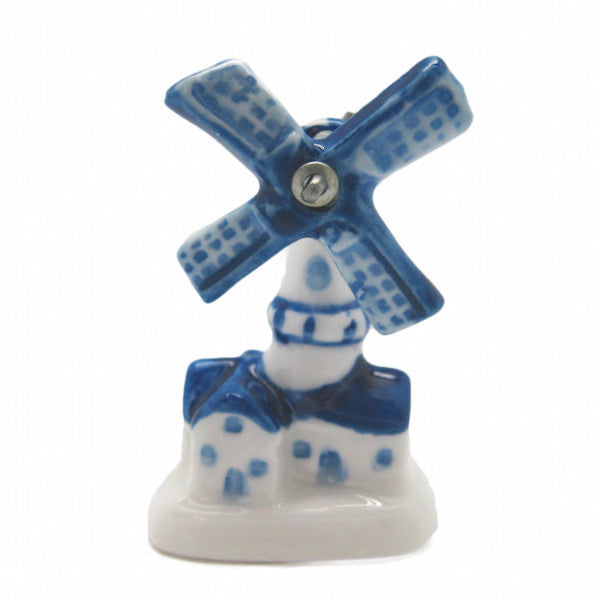 Collectible Delft Blue Windmill Ceramic Miniature
