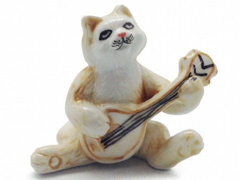 Miniature Musical  Cat With Banjo