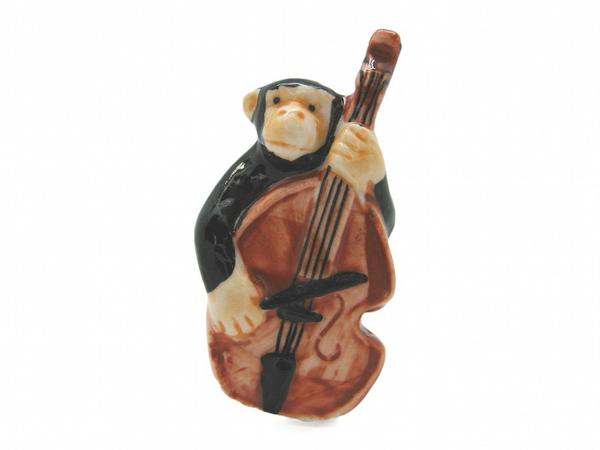 Miniature Musical Monkey Playing The Bass