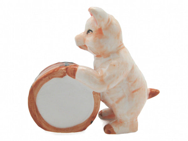 Miniature Musical  Pig With Drum