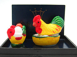 Miniature Chickens In Mini Gift Box - Animal, Collectibles, Figurines, General Gift, Home & Garden, Miniatures, PS-Party Favors