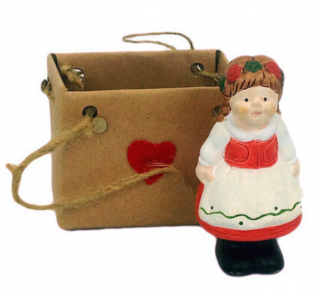 Polish Girl Collectible Miniature - Below $10, Collectibles, Decorations, Figurines, Home & Garden, Miniatures, Miniatures-Polish, Polish, PS-Party Favors