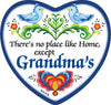 Magnetic Heart Tile There's No Place Like Home Except Grandma's