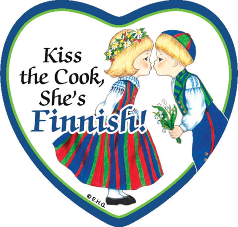 Magnetic Heart Tile: Kiss Finnish Cook