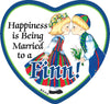 Magnetic Heart Tile: Married To A Finn