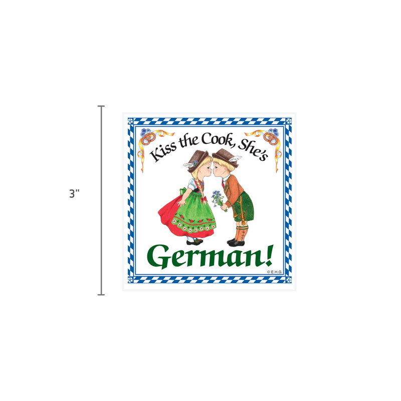 German Gift Idea Magnet Kiss German Cook