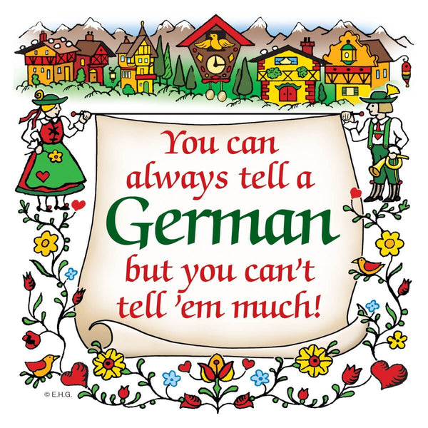 German Gift Idea Magnet Tell A German