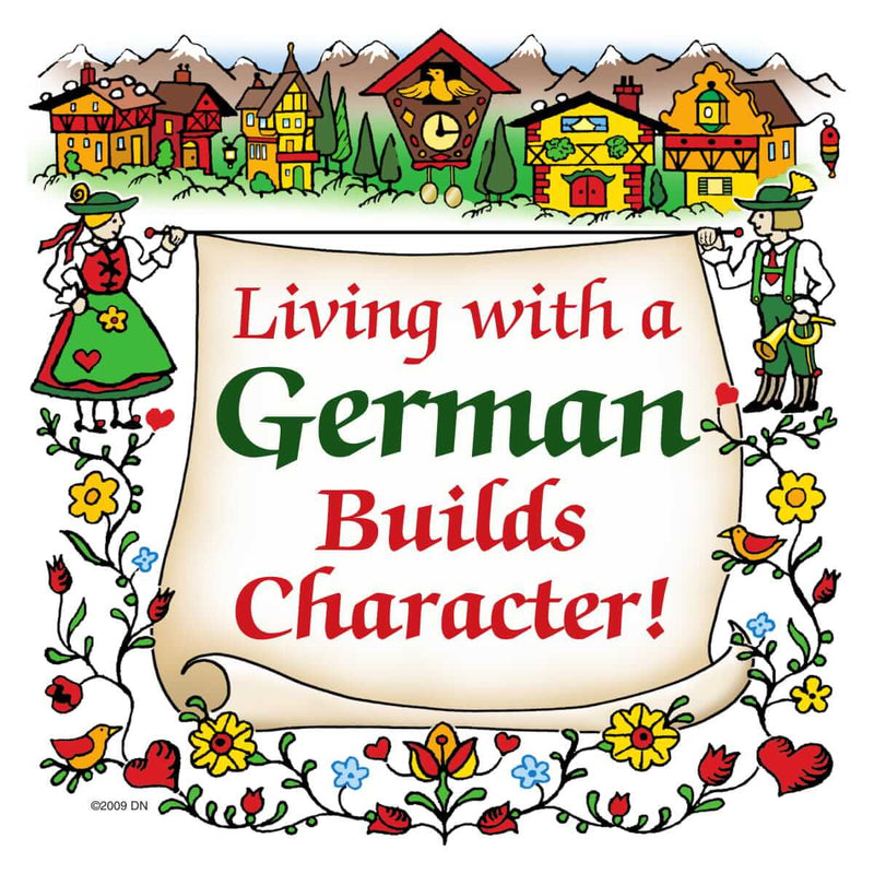 German Gift Idea Magnet Living With A German