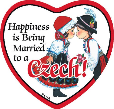 Tile Magnet Married to Czech